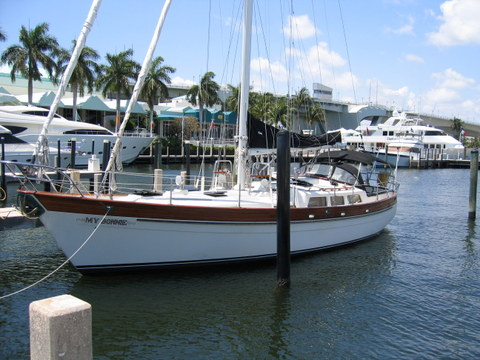 Cutter Rigged Sailboat, Pier 66, Fort Lauderdale