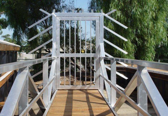 A Marina Secured Dock Gate