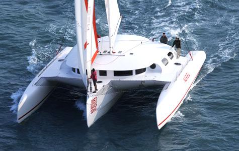 Trimaran Under Sail